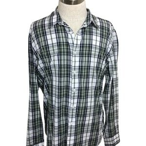 American Rag Men's Plaid Button-Down Shirt Long Sl